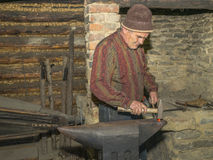 Blacksmith at work Stock Photo