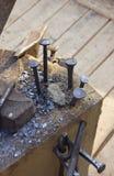Blacksmith work royalty free stock photo