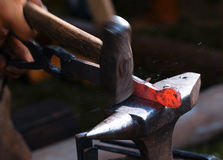 Blacksmith at work. Royalty Free Stock Photos
