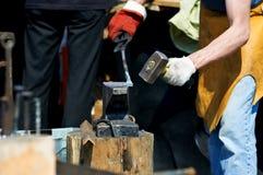 Blacksmith at work. Stock Image