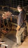Blacksmith working Royalty Free Stock Photography