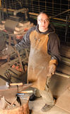 Blacksmith working Stock Photo