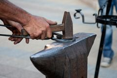Blacksmith working Royalty Free Stock Photos