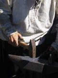Blacksmith working Royalty Free Stock Photos