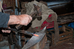 Blacksmith working Royalty Free Stock Photography
