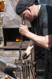 Blacksmith working Stock Image