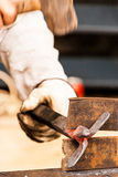Blacksmith working Royalty Free Stock Photo
