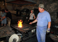 Blacksmithing Images libres de droits