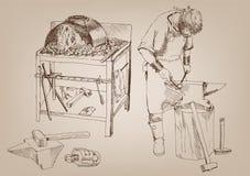 Blacksmithing Fotografía de archivo