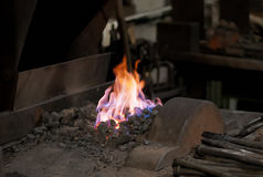 Blacksmiths fire Stock Photography