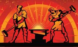 Blacksmiths forge metal Royalty Free Stock Photo