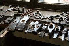 Blacksmiths hammers Royalty Free Stock Photos
