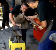 Blacksmiths on Hefaiston 2008 Royalty Free Stock Images