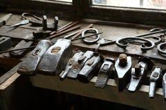 Blacksmiths młoty Zdjęcia Royalty Free
