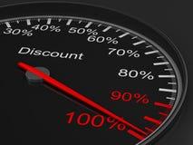 blackspeedometer för bakgrund 3d illustration 3d Arkivbilder