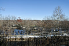 Blackstone River valley in winter Royalty Free Stock Photography
