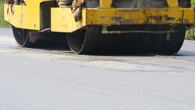 Blacktop майны асфальта дороги строения автомобиля Steamroller видеоматериал