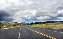 Blacktop autostrada Znika zdjęcie stock