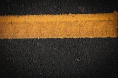 Blacktop del carril Imagen de archivo libre de regalías