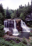 Blackwater Falls. In West Virginia, United States as photographed from trail around falls Royalty Free Stock Image