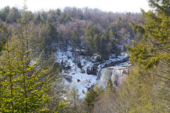 Blackwater Falls Park in a snow. Royalty Free Stock Photography