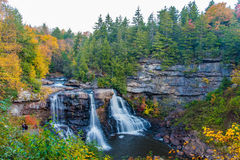 Blackwater Falls, West Virginia. Blackwater Falls waterfall during the Fall in West Virginia, taken after sunrise royalty free stock photography