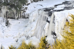 Blackwater Falls, WV, in Winter Horizontal. A frozen winter view of Blackwater Falls, West Virginia, in horizontal format Royalty Free Stock Photo