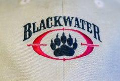 Blackwater Logo on a Baseball Cap Stock Photos