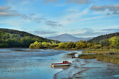 Blackwater river in Ireland. The Cork Blackwater is Ireland's finest Salmon River and one of the most important salmon rivers in Europe Royalty Free Stock Image