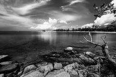 Blackwhite foto på Batam Bintan öar royaltyfri foto
