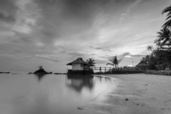 Blackwhite photos panorama of bintan island wonderful indonesia stock photos