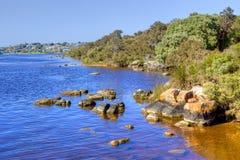 Blackwood-Fluss und Augusta Lizenzfreie Stockfotografie
