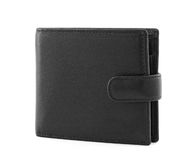 Blacl leather wallet Royalty Free Stock Photos