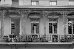Blacony dans le quartier français (la Nouvelle-Orléans, Etats-Unis images stock