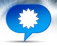 Blad blauwe de bellenachtergrond van het bloempictogram royalty-vrije stock foto's