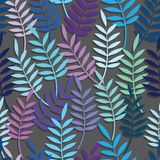 Blad bloemen abstracte naadloze vectorachtergrond Royalty-vrije Stock Fotografie