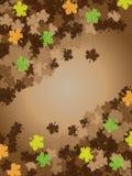 blad den bruna ramen för bakgrund tacksägelsen Royaltyfri Bild
