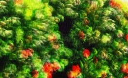 Blad en bloem het schilderen stock fotografie