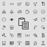 blad en omslag het pictogram van het tabletoverzicht Gedetailleerde reeks minimalistic lijnpictogrammen Premie grafisch ontwerp É royalty-vrije illustratie