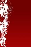 Blad en Rode Achtergrond Royalty-vrije Stock Afbeeldingen