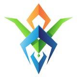 Blad formad abstrakt symbol vektor illustrationer