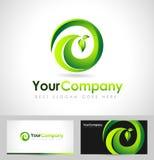 Blad Logo Concept Royalty-vrije Stock Foto's