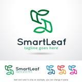 Blad Logo Template Design Vector för bokstav S Stock Illustrationer