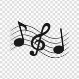 Blad music2 vector illustratie