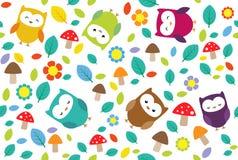 blad owls Royaltyfri Fotografi