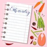 Blad van dieetplan Stock Afbeelding