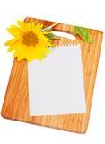 Blad van document voor verslag van recepten Royalty-vrije Stock Foto