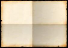 Blad van een oud document met krommingen Stock Foto