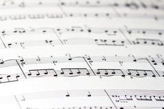Blad van muziek Stock Foto