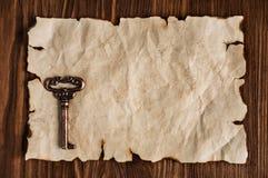 Blad van oud perkament stock afbeelding